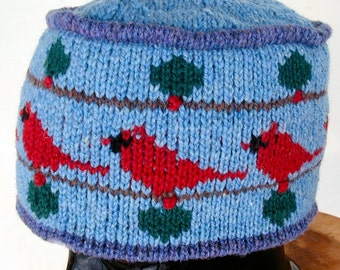Blue Cardinal Pillbox Hat