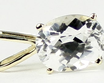 Silver Topaz, 14KY Gold Pendant, P002