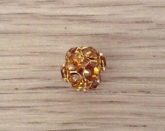 Pearl rhinestone Crystal Gold amber