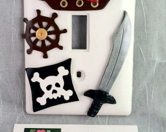 Pirate Themed Single Switch Plate