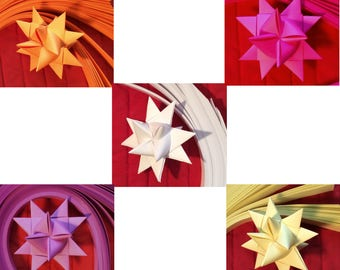Paper Strips to make 3D Stars (Moravian Froebel Quilling Weaving) 3 / 4 inch wide 1000 strips