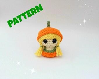Crochet Pumpkin Doll Pattern, Amigurumi Patterns, Crochet Amigurumi Pattern, Crochet Doll Pattern, Amigurumi Doll Pattern, Toy Doll Pattern