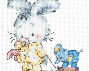 Cross Stitch Kit beginner beginner / baby / birth