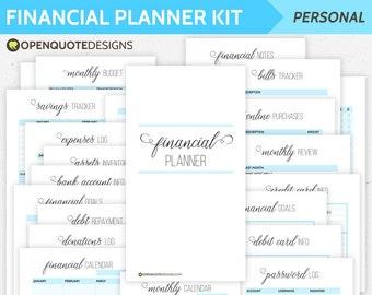 Personal Filofax Finance Printable, Budget Planner, Household Budget Organizer, Personal Finance Planner, Personal Planner Inserts
