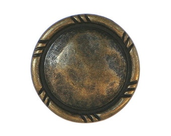 6 Rusticana 11/16 inch ( 18 mm ) Metal Buttons Brass Color