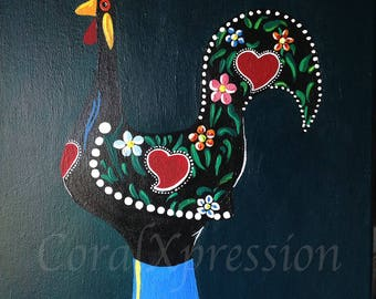 Portugese Rooster Painting