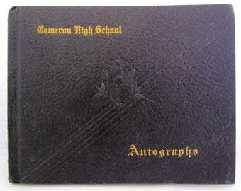 Cameron High School 1938 Cameron Oklahoma Autograph Book High School Memories