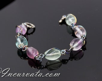 Wire Wrapped Fluorite Bracelet
