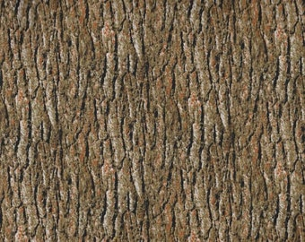 Nature's Glory Brown Green Wood Bark 23839A from Quilting Treasures by the yard