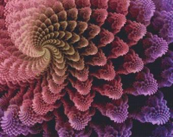 Fractal Cross Stitch Pattern 205 Patterns Instant Download pdf Cross Stitch Design