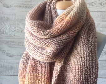 Knit scarf scarf cowl scarf knit scarf oversized scarf winter scarf women oversized scarf Luxury knit scarf  Fast Delivery