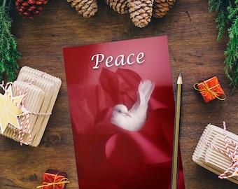 Peace dove bird Christmas Print Card Decoration photo photography