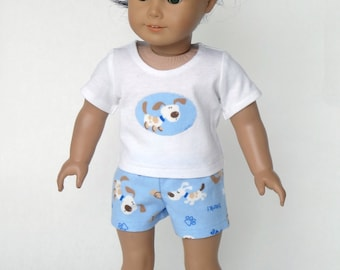 18 Inch Doll Clothes -- Pajama T-Shirt and Shorts -- 2 Piece Outfit (5-04)