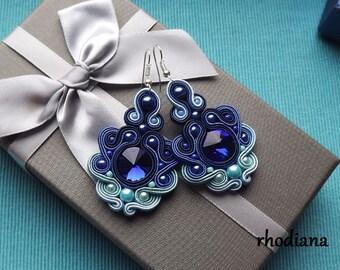 Rivoli Shades of Sky Soutache Earrings