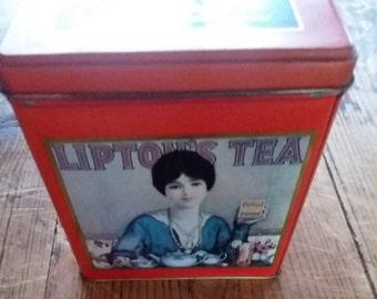 Vintage Lipton Tea Tin Nostalgic Collection #101