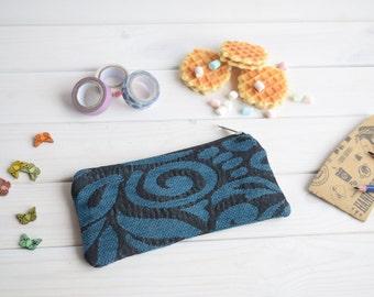 Pencil case with zipper, Pencil Pouch, Cosmetic pouch, Make Up Pouch, Cute pencil bag, Pencil bag, Travel bag, Bridesmaid gift, Bridal purse