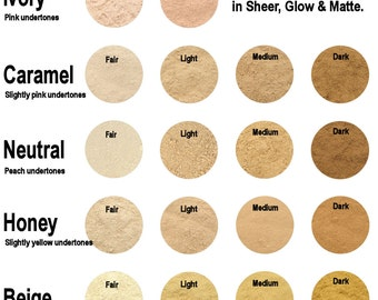 30g Mineral Foundation - Full Coverage Matte Finish - 18 Colours To Choose From