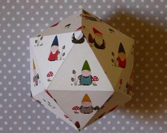 GARDEN#01 - Paper suspension - Garden gnome pattern