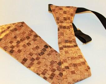 Wooden tie | Handmade wood tie | Tie for men | Cork tie I Handmade cork tie | Wooden bow tie | Gift for him | Wooden gift for him