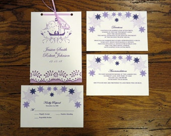 "Tangled Wedding Invitation Booklet 5"" by 7"""
