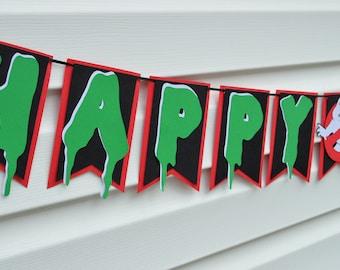 Ghostbuster Birthday Banner - Ghostbuster Banner - Ghostbuster Birthday Party