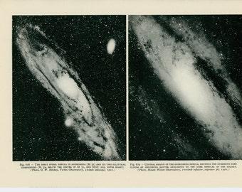 1959 ANDROMEDA CONSTELLATION lithograph - original vintage celestial astronomy print