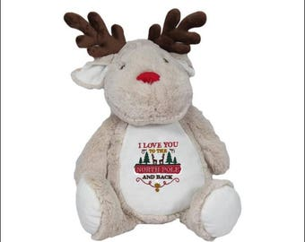 Personalised Christmas Reindeer Plush Toy