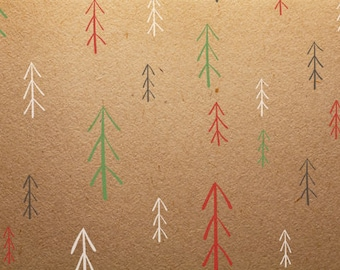 Farmhouse Christmas Trees Stencil - Make your own gift wrap this year!