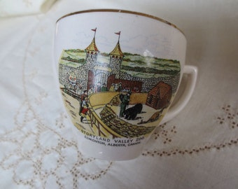 Vintage Teacup Storyland Valley Zoo - Edmonton Canada - Souvenir Fairytale Animals
