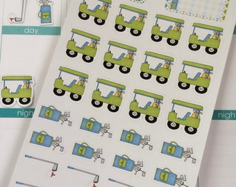 Golf Stickers Perfect for Erin Condren Life Planner Plum Paper Planner & Other Planners