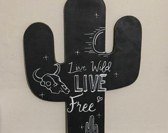 Cactus Chalkboard