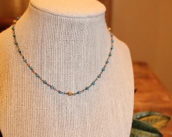 Turquoise Rosary Chain Choker