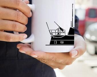 KillerBeeMoto:  U.S. Made Limited Release U-96 U-Boat German Submarine Coffee Mug (White)