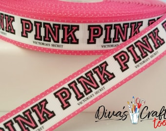 Victoria Secret Pink Grosgrain Ribbon - SUPER FAST SHIPPING