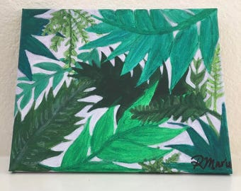 Leaf Pattern Canvas Painting