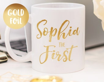 Gold foil mug beautiful customized gift for her