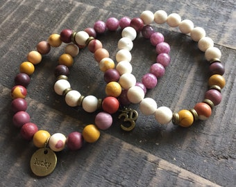 Mala Bracelet, Choose Your Word Wrist Malas - Handmade Mala, Mala Bracelets, Mala Beads, Meditation Jewelry, Wrist Mala