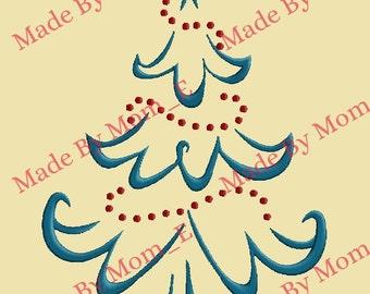 Whispy Christmas Tree Embroidery