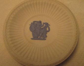 Wedgwood White with Blue Jasperware Miniature Plate