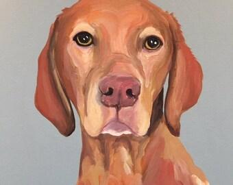 Custom Dog Portrait, 10 x 10 Custom Dog Portrait, Custom Dog Painting, Custom Pet Portrait, Paint My Pup, Gift for Dog Lover
