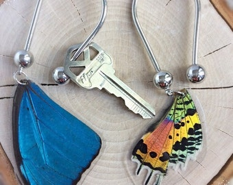 Real Butterfly Wing keychain Accessories