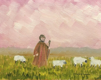 The Shepherd  Original Oil Painting