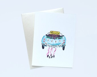 Just Married — Greeting Card