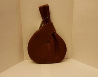 Leather pouch/handbag handmade/miner's pouch