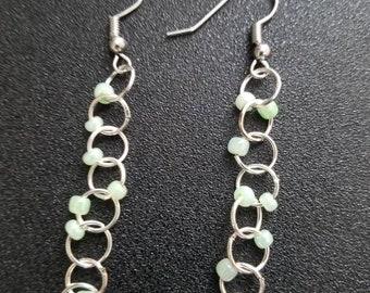Beaded ladder earrings