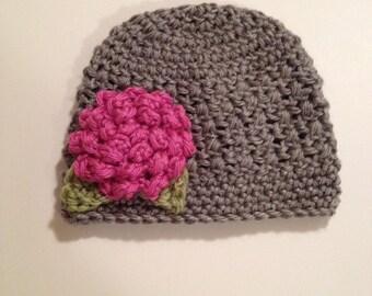Crochet Baby Hat, Beanie, 0-3 Months