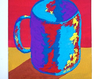 """The Morning Cup of Coffee #124 (ARTIST TRADING CARDS) 2.5"""" x 3.5"""" by Mike Kraus"""