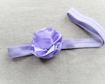 Elastic headband purple headband purple headband flower purple headband purple headband baby ceremony violet - Ninette wedding photo