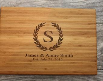 Anniversary Gift, Monogram Cutting Board, Personalized Cutting Board Wedding, Anniversary Present, Custom Cutting Board