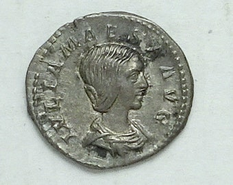 Julia Maesa; Ancient Roman Silver Denarius; Grandmother of  the Roman Emperor Elagabalus